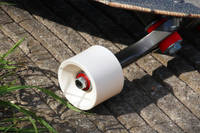 White Pigmented Skateboard Wheel Thumbnail